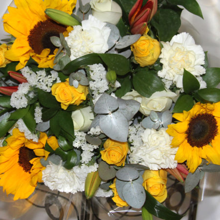 Fresh Sunflower mixed bunch