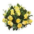 Artificial Yellow Roses Arrangement