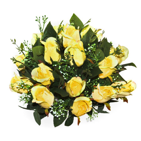 Artificial Yellow Roses Arrangement